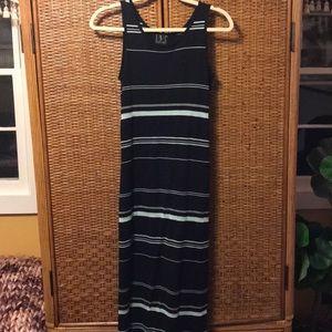 Navy/ aqua INC rayon blend maxi dress size S